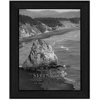 """""""Strength"""" By Trendy Decor4U, Printed Wall Art, Ready To Hang Framed Poster, Black Frame"""