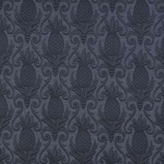 E521 Blue Pineapple Durable Jacquard Upholstery Grade Fabric