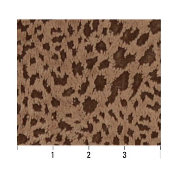 D840 Brown Indented Animal Spots Microfiber Upholstery Fabric