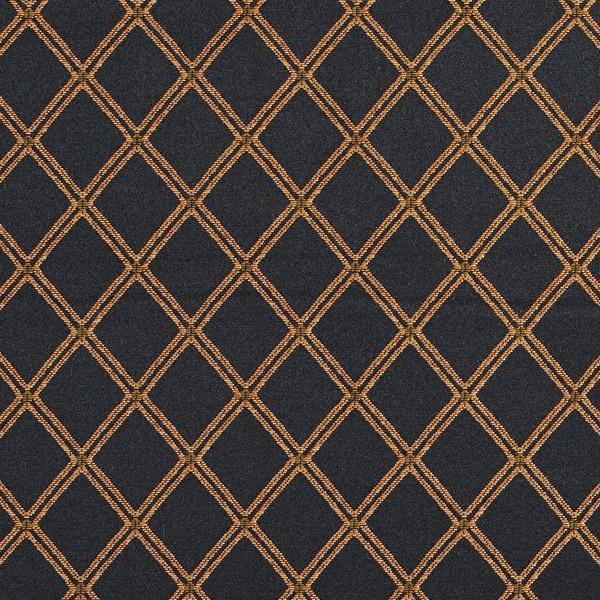 Shop E612 Diamond Black Gold Green And Orange Damask Upholstery