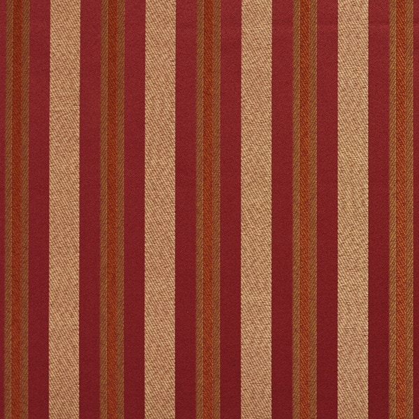 Shop E627 Striped Red Gold Green Damask Upholstery Drapery Fabric