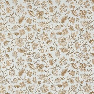 E623 Floral Light Blue Gold Damask Upholstery Drapery Fabric