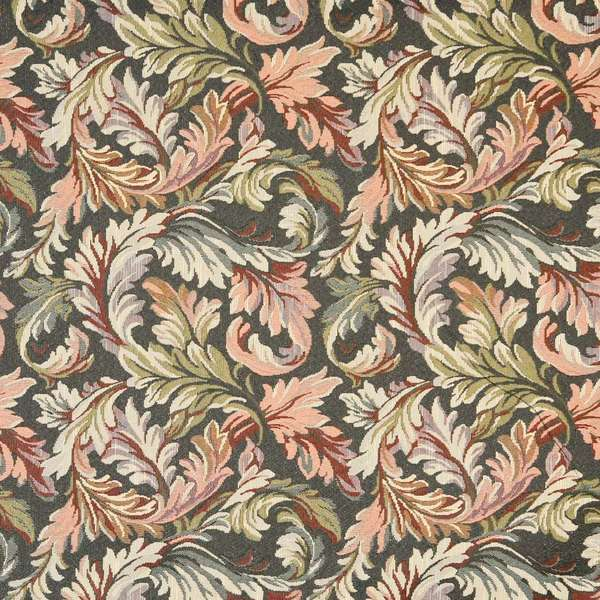 Shop F901 Navy Red And Green Floral Leaves Tapestry Upholstery