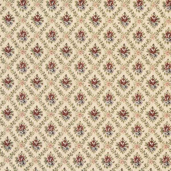 Shop F920 Gold Burgundy Green Floral Diamond Tapestry Upholstery