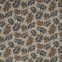 F932 Green Red And Brown Floral Leaves Tapestry Upholstery Fabric