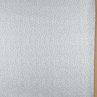 G019 Silver, Emu Ostrich Faux Leather Upholstery Vinyl