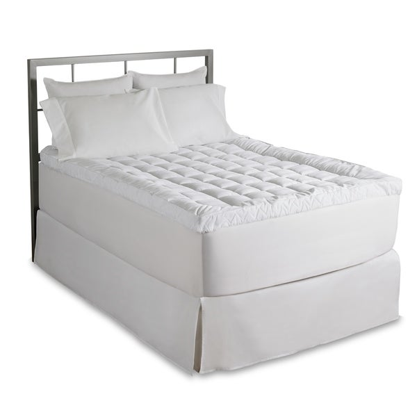 Live Comfortably Cuddlebed Mattress Topper - White