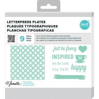 Lifestyle Letterpress Plates Shimelle True Stories