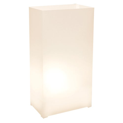 Plastic Luminaria Lanterns - White (Set of 12)