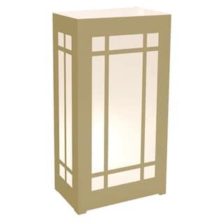Plastic Luminaria Lanterns -  Gold Lantern (Set of 12)