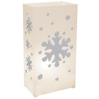 Plastic Luminaria Lanterns - Snowflake (Set of 12)|https://ak1.ostkcdn.com/images/products/10281576/P17396923.jpg?impolicy=medium