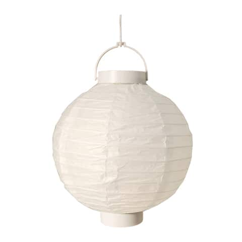 Battery Operated White Paper Lanterns (Set of 3)