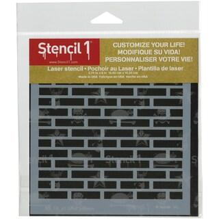 Stencil1 6inX6in Stencil Bricks