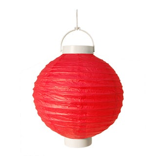 Battery Operated Red Paper Lanterns (Set of 3)