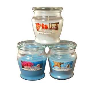 8oz. Fresh Scented Candles (Set of 3)