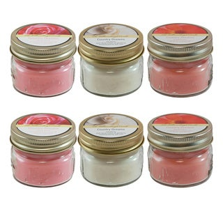 2.5oz Floral Scented Candles (Set of 6)