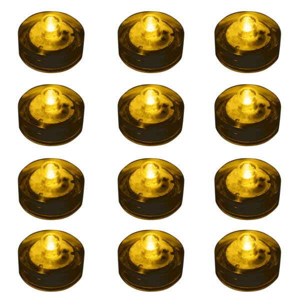Submersible LED Lights - Amber (Set of 12)