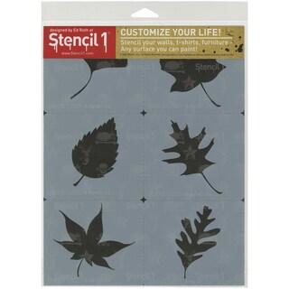 Stencil1 Set 6/Pkg Leaves Silhouettes