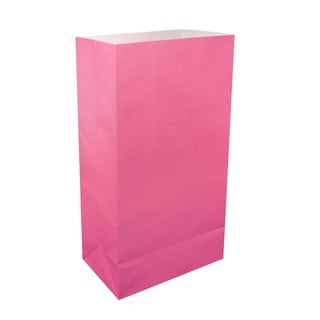 Paper Luminaria Bags - Pink - 100 Count