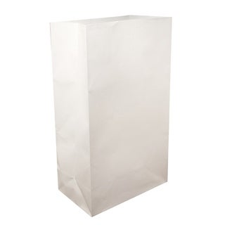 Flame Resistant White Luminaria Bags (Case of 100)