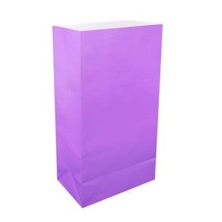 Flame Resistant Luminaria Bags - Purple - 100 Count