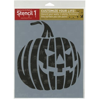 Stencil1 8.5inX11in Stencil Jack O Lantern 1