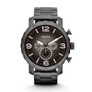 Fossil Men's JR1437 Nate Chronograph Smoke Stainless Steel Watch|https://ak1.ostkcdn.com/images/products/10281811/P17397092.jpg?impolicy=medium