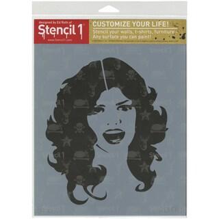 Stencil1 8.5inX11in Stencil Glam Girl