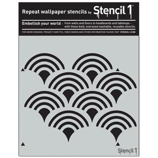 Stencil1 11inX11in Stencil Scallop