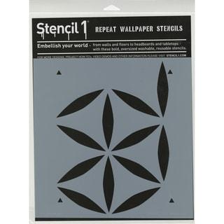 Stencil1 11inX11in Stencil Moroccan Petal