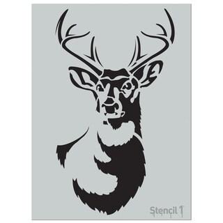Stencil1 24inX24in Stencil Large Antler Deer