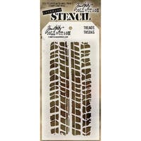 Tim Holtz Layered Stencil 4.125inX8.5in Treads