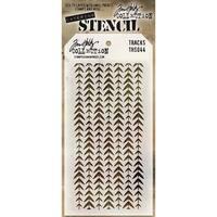 Tim Holtz Layered Stencil 4.125inX8.5in Tracks