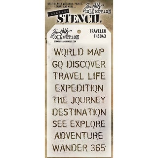 Tim Holtz Layered Stencil 4.125inX8.5in Travelers