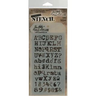 Tim Holtz Layered Stencil 4.125inX8.5in Typo