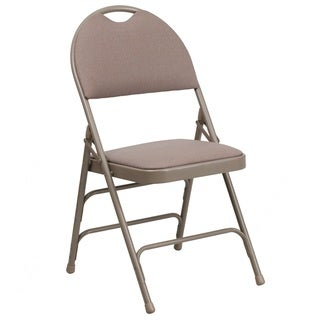 Anemone Beige folding chairs with Handle Grip