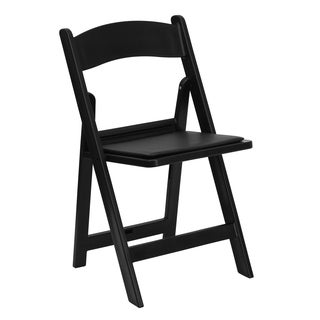 Bergamot Black Resin folding chairs