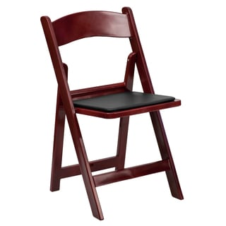 Bergamot Mahogany Color Resin folding chairs