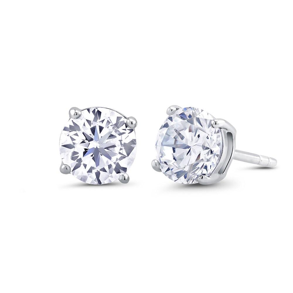 Sterling Silver CZ Star Post Earrings Solid 7 mm 7 mm Button Earrings Jewelry