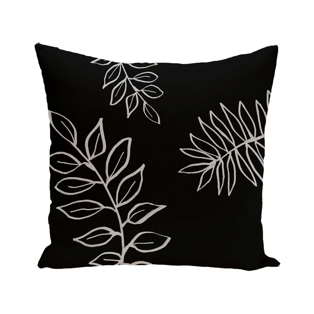 Floral Print Blue/ Black/ Green/ Purple/ Brown 28-inch x 28-inch Decorative Indoor Floor Pillow (Purple)