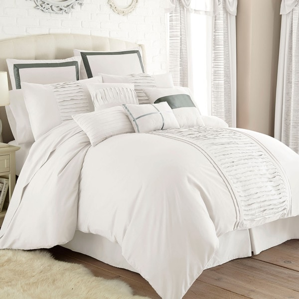 Amraupur Overseas Marilyn Off White 24 Piece Bed In A Bag Set