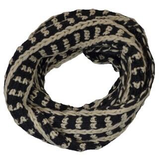 LA 77 Winter Two Tone Knit Infinity Scarf