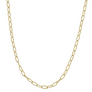 Fremada 14k Yellow Gold Diamond-cut Oval Link Necklace (18 - 30 inches)