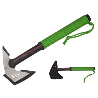 16-inch Biohazard Ax Zombie Green Killer Axe Solid Fantasy Paracord Wrap Handle