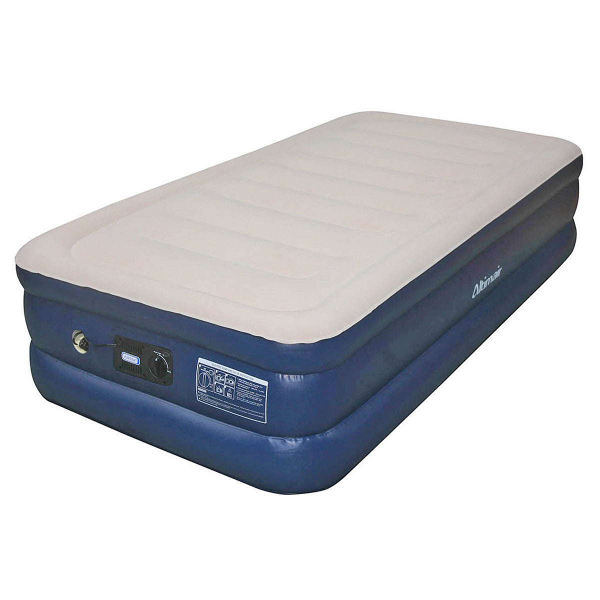 Shop Airtek Twin size Flocked Top Air Mattress with Memory Foam