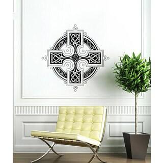 Celtic Cross Vinyl Sticker Wall Art