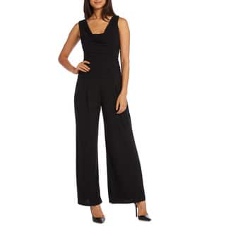 R&M Richards Ruched Panel Jumpsuit (Option: 14)|https://ak1.ostkcdn.com/images/products/10282607/P17397920.jpg?impolicy=medium
