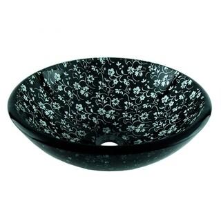 Fontaine Black Chantilly Glass Vessel Sink