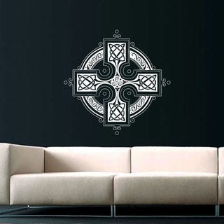Celtic Cross Vinyl Sticker Wall Art