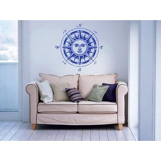 Compass Nautical Decor Vinyl Sticker Wall Art